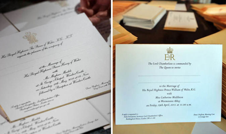 Royal Wedding Why Are Meghan Markle And Kate Middletons Invitations Different