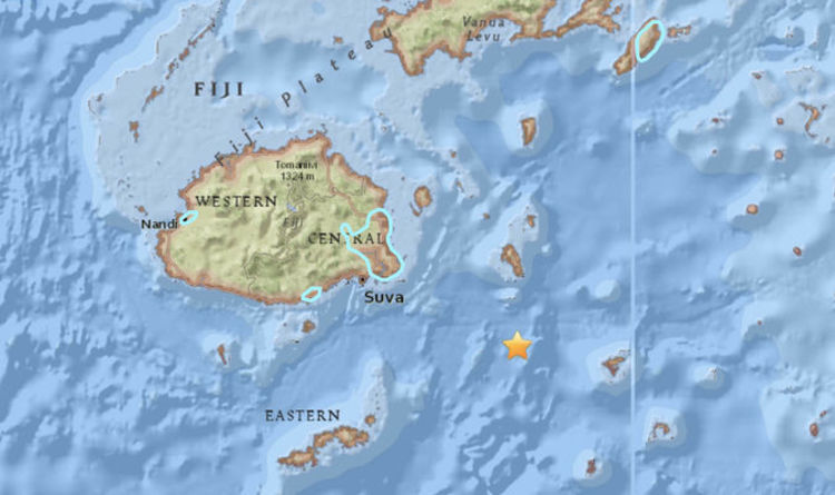 Where Is Fiji Islands On World Map.Fiji Earthquake Pacific Ring Of Fire Rocked By Huge 7 8 Earthquake