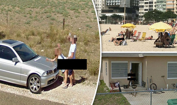 Naked people on google maps pics 14