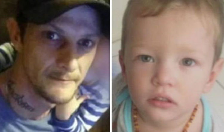 Scumbag drug addict who beat baby stepson to death has skull smashed