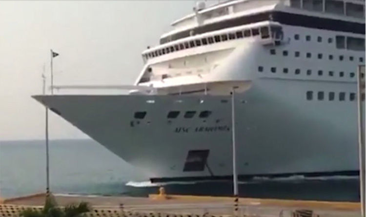 Watch Cruise Ship Crashes Into Port In The Caribbean Smashing It To Pieces