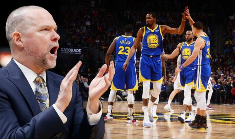 0db49643de8 Warriors stars Steph Curry and Kevin Durant  sent a message  says Nuggets  coach after loss