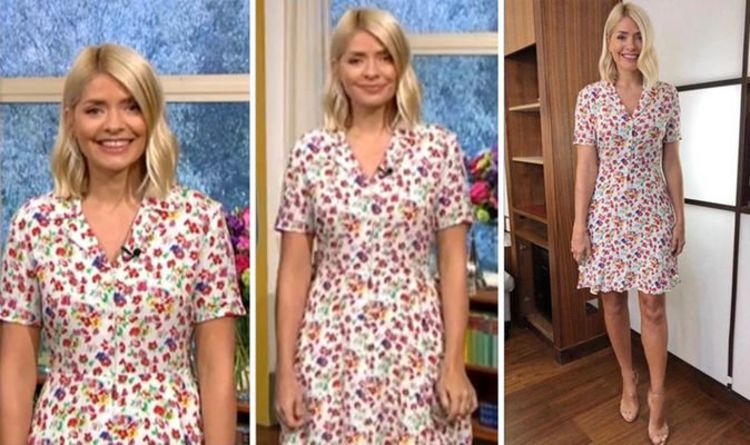e92e2e83a7 Holly Willoughby wows fans in £239 dress on ITV's This Morning - where to  buy her outfit