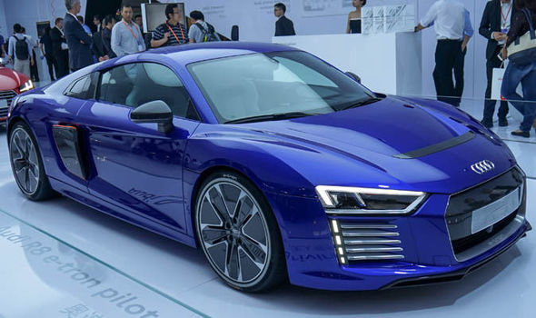 A Blue Audi R8