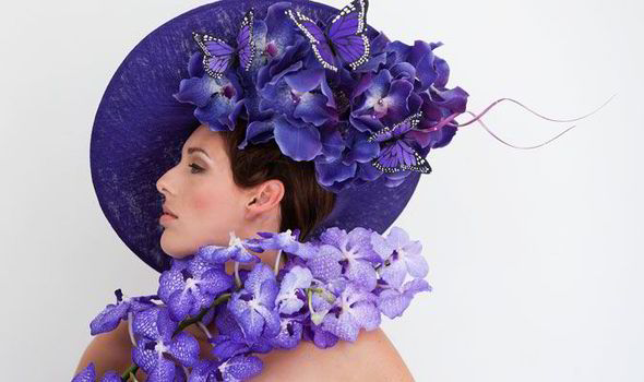 Leave your hat on  Philip Treacy collection inspired by orchids and ... c83f95721f8