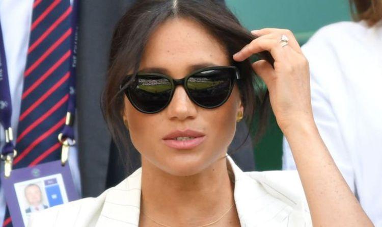 e744e0df2d78 Royal rebel: Meghan Markle suffers awkward faux-pas as she breaks rules at  Wimbledon