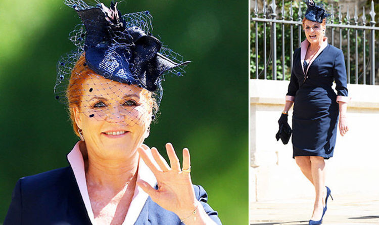 3aa513085a Sarah Ferguson  Prince Andrew ex Fergie s royal wedding comeback outfit  cost THIS much