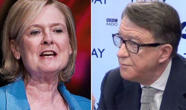 88324c8481f Mandelson squirms when played his own comments from 2016 –  Once in a  LIFETIME vote