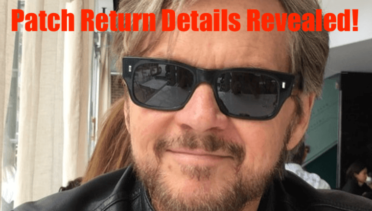 Days Of Our Lives Spoilers Stephen Nichols Is Back Steve Patch Johnson Return Details Revealed Daily Soap Dish