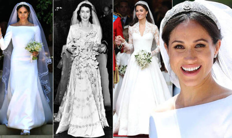 33b50caa11 Royal wedding dresses through the years in pictures: Queen Elizabeth II to  Kate Middleton