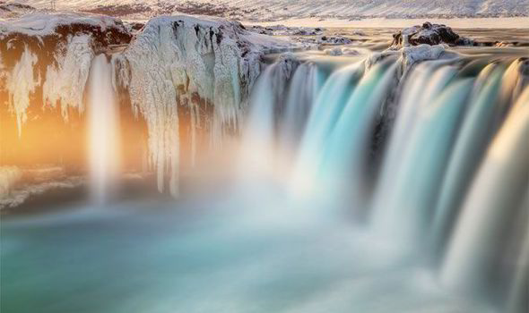 Last Light On Godafoss Photographer Ed Graham Used A 10 Stop ND Filter To Capture