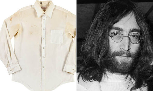 Shirt Stained With The Blood Of Beatles Legend John Lennon Goes On