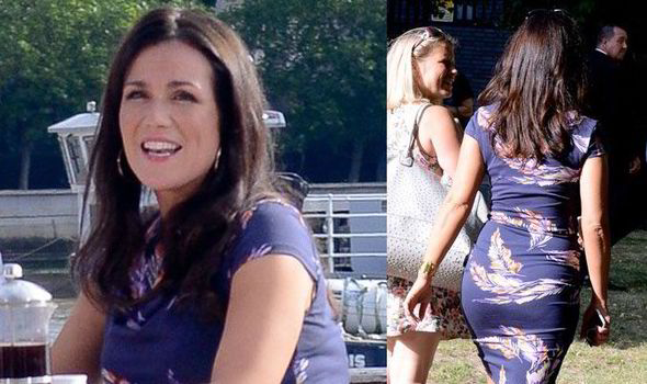 18c1cc895 Susanna Reid goes for Rear of the Year award in skintight floral dress