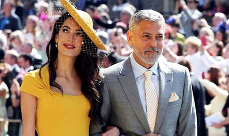 57e6142be35 George Clooney  Hollywood superstar and stunning wife Amal steal show at  Royal Wedding