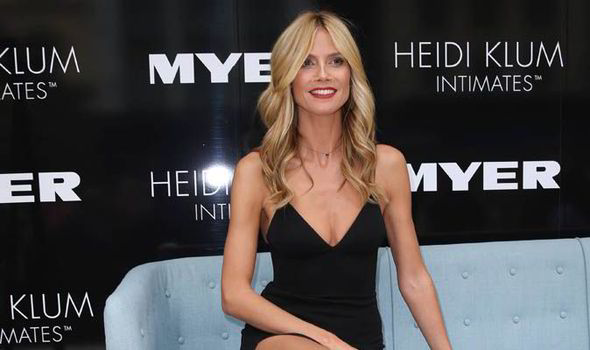 8f78fd0cf4 Supermodel Heidi Klum stuns at the launch of her new Intimates ...