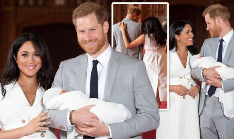 6d774b8fd6c9b Meghan Markle and Prince Harry: Body language in royal baby photo reveals  parenting style