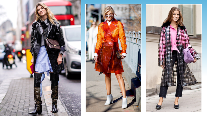 And the front row wore macs — why raincoats are a good