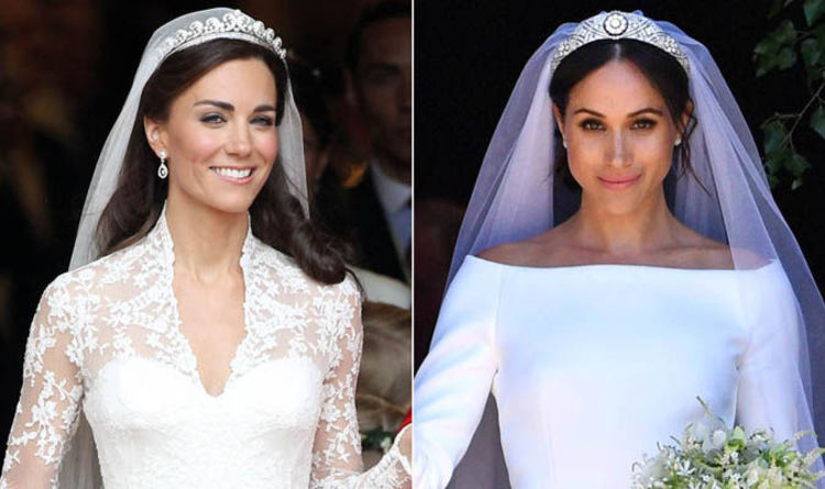 43ffabf0c Kate Middleton and Meghan Markle: Royal weddings compared in ...