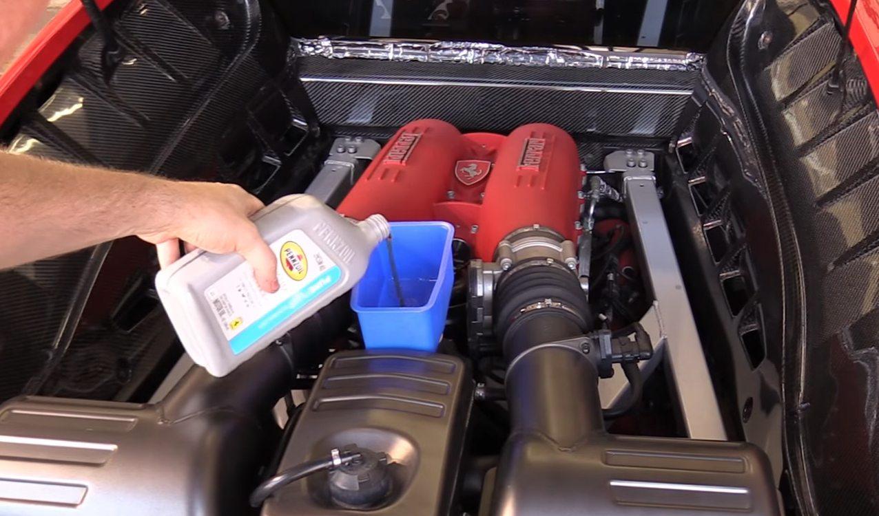 Diy Oil Filter Transmission Service On Ferrari F430