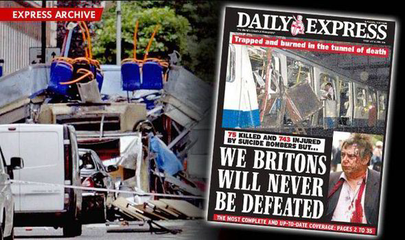 cff280773 The dark day of 7 7  How the How the Daily Express reported it