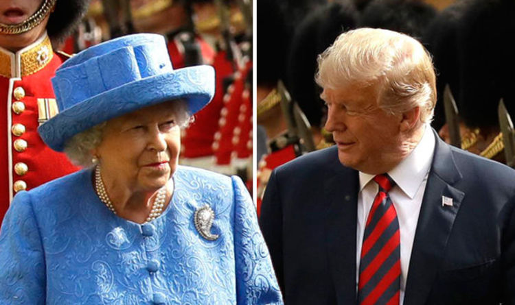 Donald Trump STARSTRUCK by the Queen during HOUR-LONG tea - 'She is