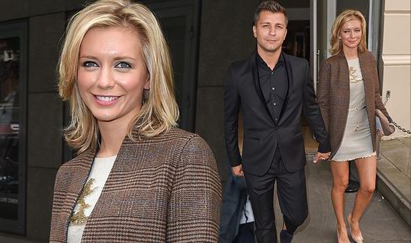 Rachel Riley And Pasha Kovalev Looking Loved Up At London Fashion Week