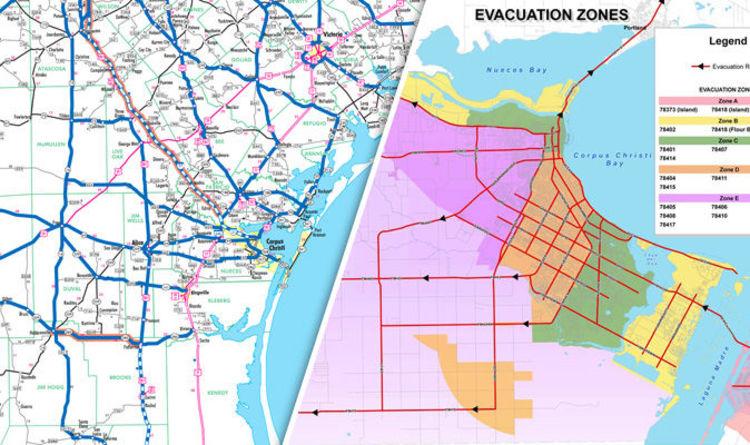 Hurricane Harvey evacuation map Where are evacuation zones in Texas