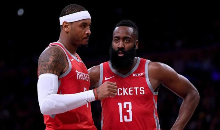 ae0b0fe4f55a NBA news  James Harden sends Lakers message over Carmelo Anthony trade after  Rockets exit