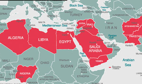 ISIS horrormap reveals how ISIS terror will infect world if not ...