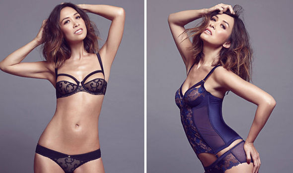Stripping sheer lingerie