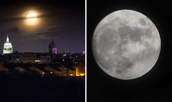 Stunning display as Full Cold Moon lights up the sky for first time in  years | UK | News | Express.co.uk