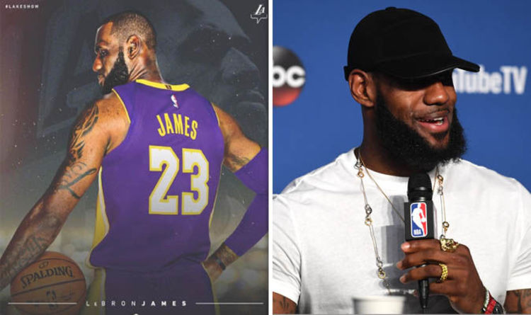 LeBron James  Lakers release first image of the King in purple-and-gold a78935bf2