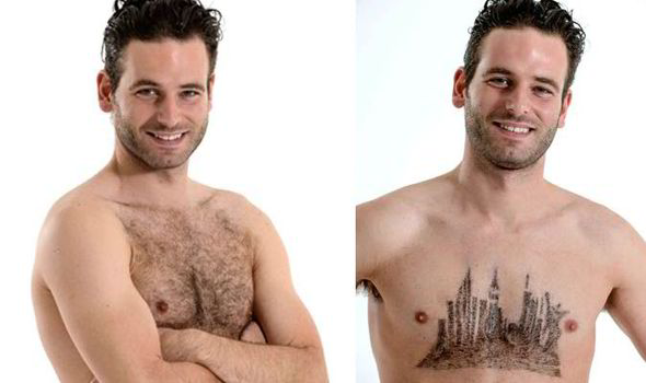 Willing Brits Are Having Their Chest Hair Turned Into Works Of Art