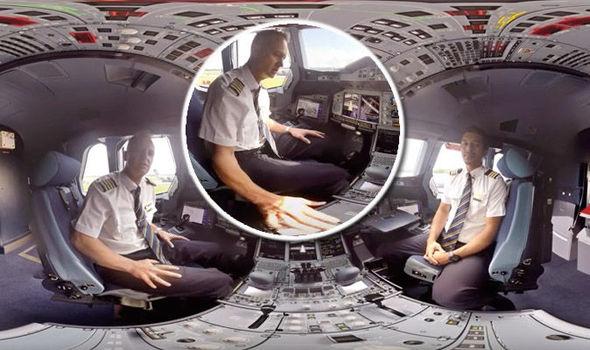 See Inside Cockpit Emirates New Airbus 360 Video Tour Aeroplane