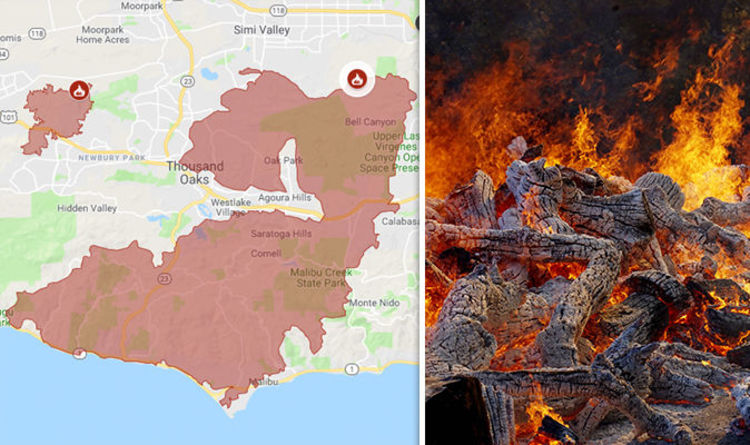 Hills Fire Map.Woolsey Fire Containment Woolsey Fire Mapped Latest Is The Fire