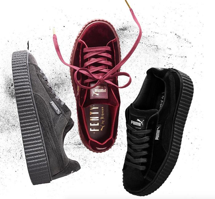 promo code 915fa 832ac Rihanna's Fenty Puma Line Launches Velvet Creepers ...