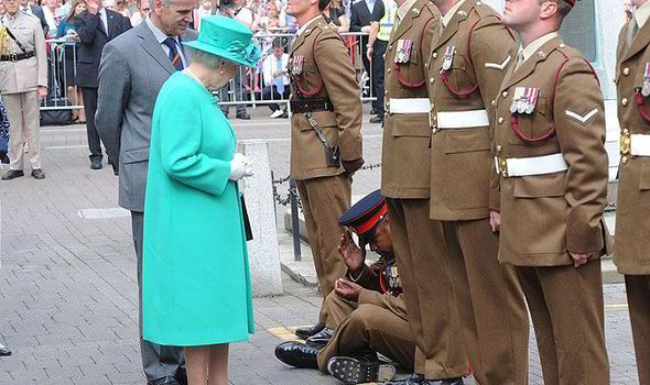The queen and the soldier