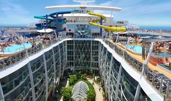 The Cruise Ship Will Have Water Slides And A Tropical Garden Inside Royal Caribbean
