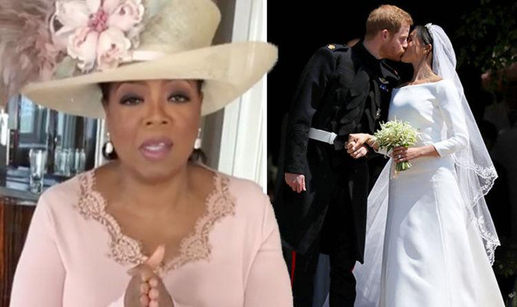 Oprah Winfrey Reveals Her Dress Nearly Clashed With Meghan Markle At Royal Wedding 2018 Celebrity News Showbiz Tv Express Co Uk