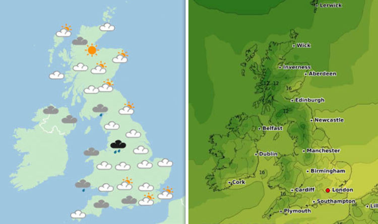 Uk Weather Forecast Today Warmer Weather Return On Bank Holiday