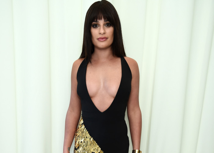 b43943e485 Celebrities Best Plunging Necklines From 2018 Red Carpets Lea Michele