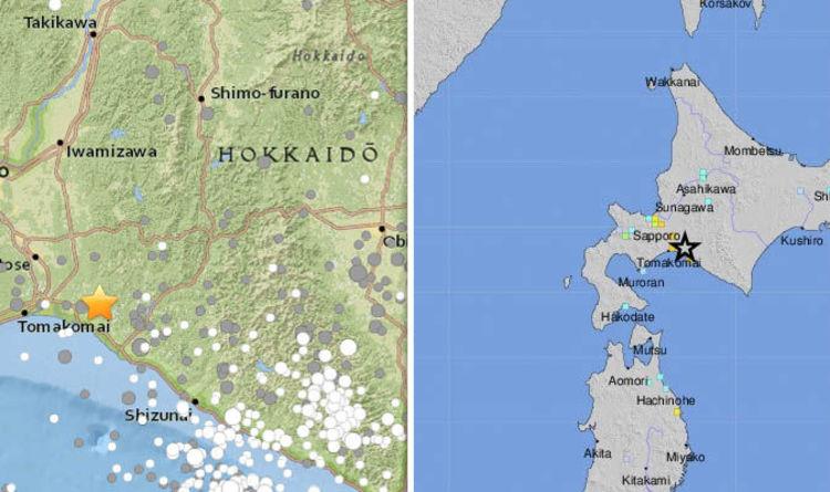 Japan Earthquake Map Today.Japan Earthquake Map Where Is Hokkaido Usgs Says 6 6 Magnitude