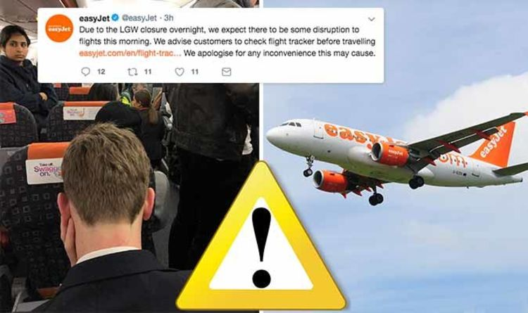 Easyjet Gatwick Airport Flights Cancelled After Drone Incident