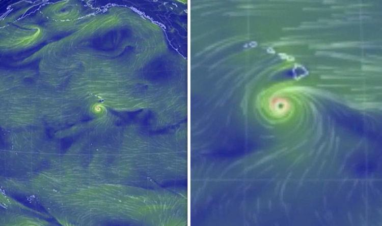 Live Earth Wind Map.Hawaii Hurricane Lane Live Wind Map Watch Frightening Storm Barrel