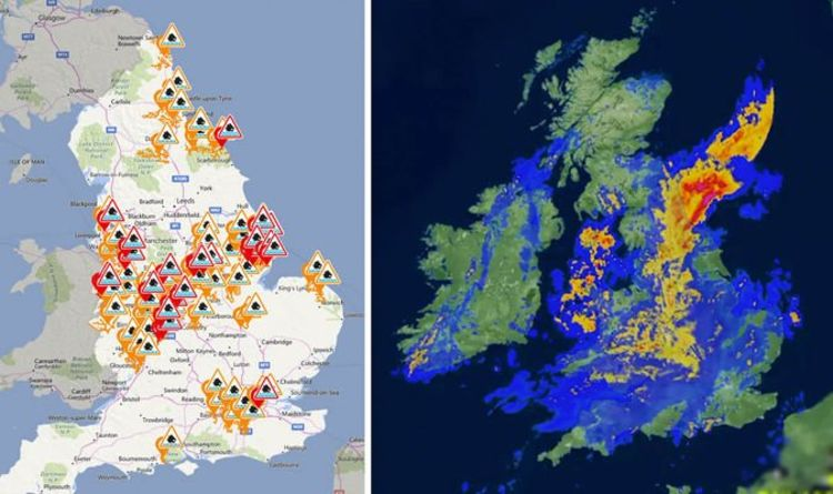 Flood Alert Map Flood warning map: Lincolnshire and Nottinghamshire under water