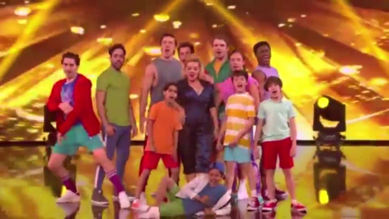 Sheridan Smith performs with the cast of West End's Joseph