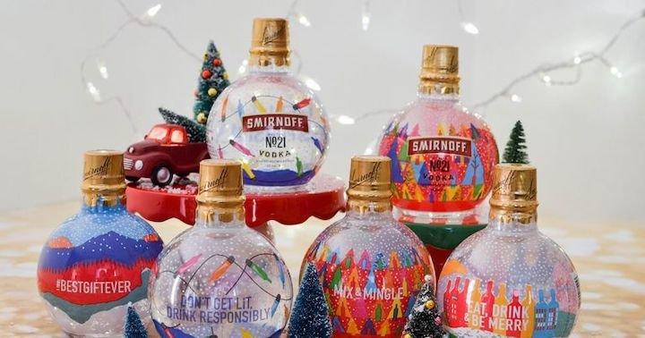 Smirnoff Releases Vodka Christmas Ornaments