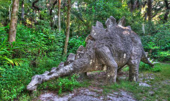 The Dinosaur Statues At Sugar Mill Botanical Gardens Are A Favourite With Children Daytona Beach