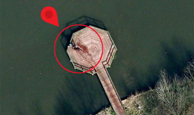 20cc5dca5c Google Maps Street View users spot dead body on pier - but image is not  what it seems | Travel News | Travel | Express.co.uk
