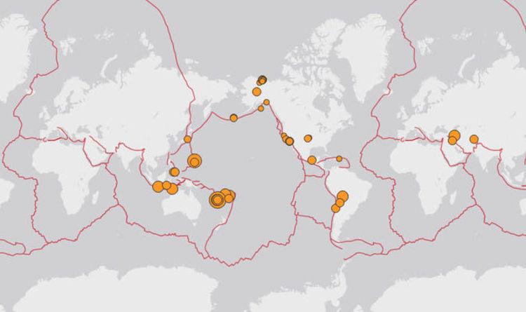 Earthquake Hits Today Map California New Caledonia Fiji And Iran